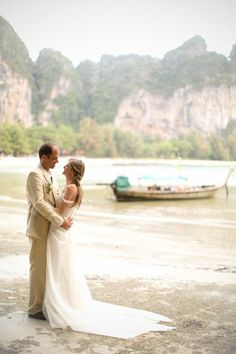 Deciding on the destination of Krabi, Thailand as the backdrop for Donna and Matthew's wedding away was easier than one would think. // Photo courtesy of Melissa McClure Photography