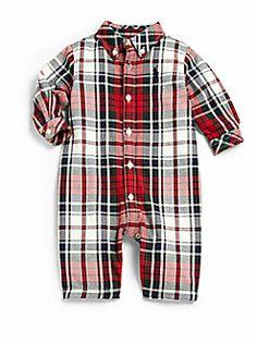 Ralph Lauren - Infant's Kensington Plaid Flannel Coveralls