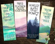The Forbidden Forest Bookmarks   Set of 4 by MirkwoodScribes