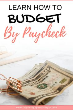 The best method of budgeting is to budget by paycheck. This allows you to break down your monthly budget by paycheck so you can organize exactly what expenses come out of every paycheck! Beat budgeting overwhelm with this simple method! Living On A Budget, Family Budget, Frugal Living Tips, Making A Budget, Create A Budget, Making Ideas, Budget Help, Budgeting Finances, Budgeting Tips