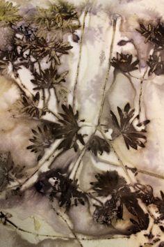 Eco printing Perennial Geranium   Threadborne
