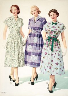 spring fashion from the Simpson's Spring and Summer catalog, 1952