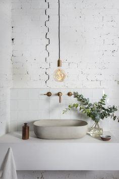 Home Decorating Ideas Bathroom Minimal Interior Design Inspiration Interior Design Examples, Interior Design Inspiration, Bathroom Inspiration, Design Ideas, Interior Ideas, Interior Plants, Design Trends, Beautiful Bathrooms, Modern Bathroom