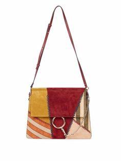Chloé Faye Patchwork Leather Shoulder Bag