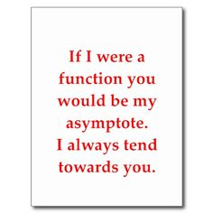 math geek love pick up line post cards