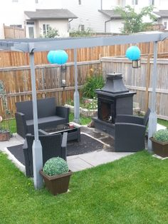 fire pit area and corner garden