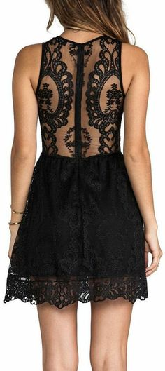 Gorgeous Surrender black lace dress! #lbd - If you like my pins, please follow me and subscribe to my new fashion channel on youtube! It's free! Let me help u find all the things that u love from Pinterest! https://www.youtube.com/channel/UCCP8TXebOqQ_n_ouQfAfuXw