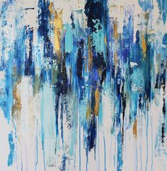 Große Kunst Malerei-abstrakte Gemälde Leinwand von jolinaanthony