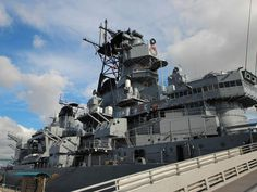 The massive and mighty USS Iowa served in WWII, Korea, and again in the Now it sits quietly at the Port of Los Angeles. Here's the full Battleship tour. Uss Iowa, Us Battleships, Battle Ships, Living In La, Maritime Museum, California Dreamin', Train Layouts, Us History, Vintage Travel