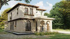 Casa de vacanta in stil mediteranean, ca in Italia Mansions, House Styles, Home Decor, Houses, Italia, Decoration Home, Manor Houses, Room Decor, Villas