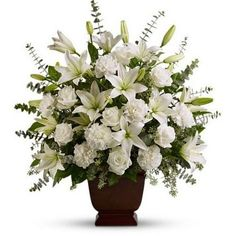 Order Teleflora's Sincere Serenity flower arrangement from Cedar Hill Flower Girls, your local Birdsboro, PA florist. Send Teleflora's Sincere Serenity floral arrangement throughout Birdsboro, PA and surrounding areas.