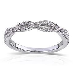 @Overstock - 14k White Gold 1/6 ct TDW Braided Diamond Band (H-I, I1-I2) - Round-cut diamond band14-karat white gold jewelry Click here for ring sizing guide    http://www.overstock.com/Jewelry-Watches/14k-White-Gold-1-6-ct-TDW-Braided-Diamond-Band-H-I-I1-I2/7894417/product.html?CID=214117  $259.99