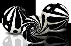 Black and white, glass marbles, beautiful