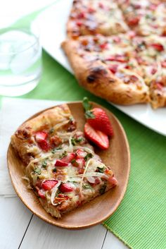 Strawberry Balsamic   Bacon Pizza ~ an unlikely combination that is surprisingly amazingly delicious!