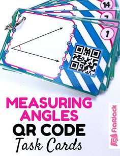 Measuring Angles QR Code Fun (CCSS 4.MD.C.5, 4.MD.C.6) - This title contains 24 self-checking task cards for students to practice measuring angles up to 360 degrees. Students solve each task card and record their answer on a recording sheet. They then scan the QR code on the card to check their answer.
