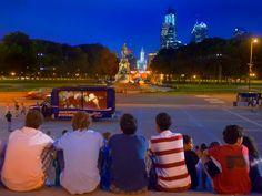 Outdoor movie screenings in Philadelphia this summer (Photo by G. Widman for GPTMC)