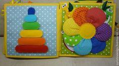 Купить Развивающая книжка(с мишуткой на обложке). - развивающие книжки, развивающие игрушки, Мягкие книжки