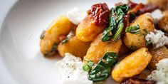 Russell Brown's beautiful gnocchi dish is served with a host of Italian delights, including mozzarella, pine nuts and basil