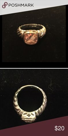Pink Cocktail Ring Size 5. The ring LOOKS like a David Yurman ring. Barely used, in amazing condition. Pandora Jewelry
