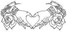 This would make a really cute tattoo, like on a girl's waist on the front. Not my style though.