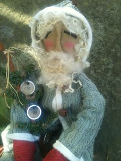 Primitive Santa Wearing Clothes Made From Vintage by TheSimpleFolk, $46.50