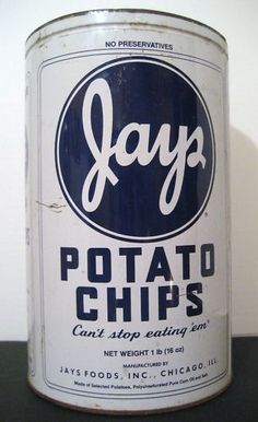 Jay's Potato Chips tin ~ used to have one; where'd it go???