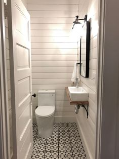 Home Remodel Plans One Room Challenge Week One: Tiny Powder Room Makeover Ideas.Home Remodel Plans One Room Challenge Week One: Tiny Powder Room Makeover Ideas Small Half Bathrooms, Small Half Baths, Small Bathroom Sinks, Small Sink, Tiny Bathrooms, Downstairs Bathroom, Bathroom Ideas, Tiny Half Bath, Bathroom Canvas