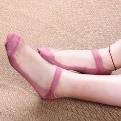 5 Colors Transparent UltrathinSilk Socks SP153818