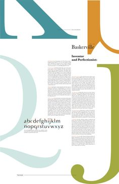 Font Study: ITC New Baskerville on Behance Poster Fonts, Typography Poster Design, Type Posters, Typographic Poster, Creative Typography, Typographic Design, Typography Inspiration, Graphic Design Posters, Graphic Design Inspiration