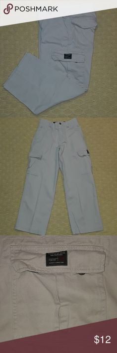 Boys GAP 10 Cargo Khaki Pants Regular Tan Dress lg Smoke Free and clean home!  Bundle up to 5lbs to get the most from your buck and save on shipping!  GAP CARGO Boys size 10 Regular Fantastic condition.  Just needs a lint brush and they're good to go!   Inside ajustable waistband. Belt loops. Six functional pockets. One small secret inner pocket.  100% Cotton  Made in Vietnam   I have more boys items in my closet :)  Tags: children school clothes outfit casual dress tan brown winter summer…