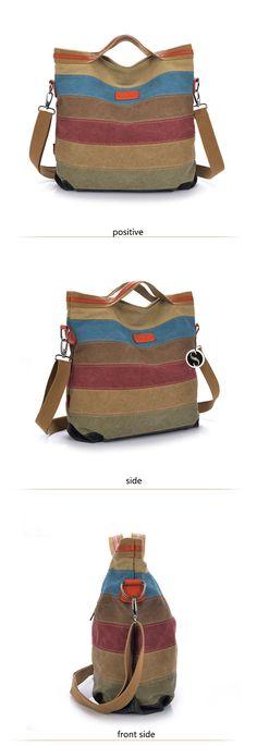 Ladies Retro Style Canvas Shoulder Bag //Price: $41.80 & FREE Shipping //     #heels #eyes Canvas Shoulder Bag, Retro Fashion, Stylish, Retro Style, Lady, Heels, Adventure Travel, Crossbody Bags, Totes