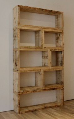 more rustic shelving i would do random pieces in bright colors
