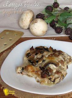 verticale_Lasagne bianche con funghi e salsiccia ricetta primo al forno facile il chicco di mais