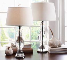 Marston Crystal Table & Bedside Lamp Bases #potterybarn