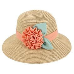 Multifit Girls Large Brim Sunhat Wavy Beach Straw Hat Cute Sun Cap Hats  Baby  Multifit f7586e539d88