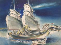 paintings of boats - Google Search
