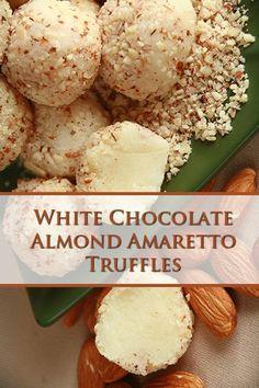 White Chocolate Truffles, White Chocolate Recipes, White Chocolate Candy, Chocolate Truffle Recipe, No Bake Truffles, Cake Truffles, Truffles Recipe, Keto Cookies, Chip Cookies