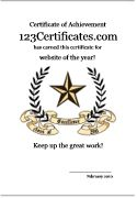 123 Certificates: Free printable certificates, certificate templates for kids, certificate maker, etc