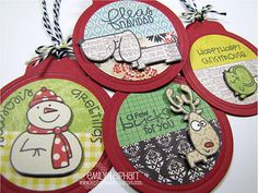 What CUTE Christmas gift tags! MUST make some!