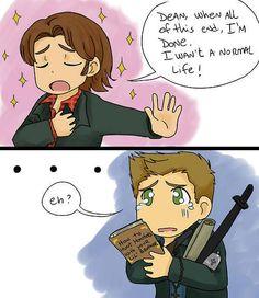 Aw...poor Dean...look at him..! Supernatural fanart