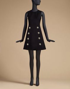 Dolce and Gabbana sleeveless wool dress with Jewel buttons
