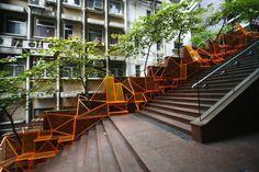 seating steps - boston installation