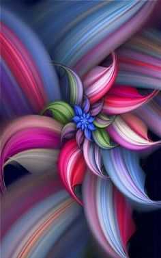 Beautiful, colorful floral digital design #flowers #floral #digital_art #photoshop #colorful #demerochelle #beautiful_art