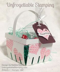 Unfrogettable Stamping | Fabulous Friday Valentine's Day Berry Basket featuring the Groovy Love stamp set