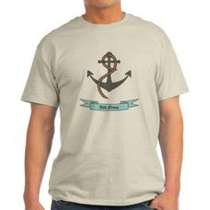Cafepress Personalized Name Anchor Light T-Shirt, Size: Large, Beige