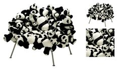 Panda Bear Chair!    Modern Lounge Chair Features An Explosion Of Cute And Cuddly Pandas