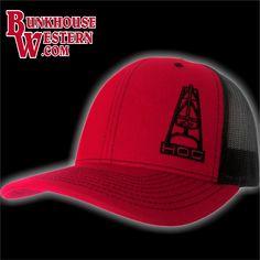 huge discount 72c34 48852 ... clearance hooey oil gear hog red trucker hat oil field worker pipeline  welder a2968 b1b25