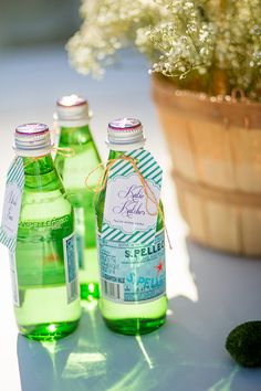 Easy and stylish drink idea: Personalized Pellegrino water.