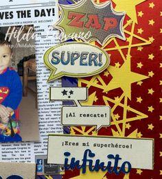 Hilda Designs: Blog Hop Superhéroes,  sellos Latina Crafter, sellos y dies Micaela Ferrero, Superman