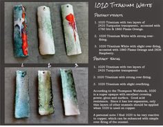 Barbara Lewis : torch-fired enamel: White is White ... Except for When It's Not!
